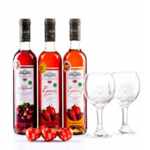 Három királyok - Gyümölcsbor csomag(Eperméz+Epervér+Kaland+2db pohár+3db Marcipán)
